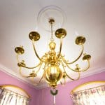 vintage gold chandelier (Photo by Frank Espich)