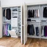 Reach-in closet design by Symmetry Closets
