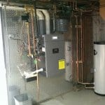 Burnham Alpine boiler in home basement
