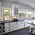 white cabinets in kictehn remodel