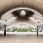 Cloud Gate sculpture in downtown Chicago