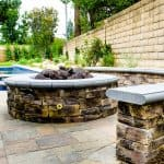 fire pit and surrounding seats