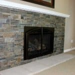 fireplace with slate tile