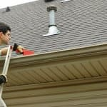 Gutter cleaner at work