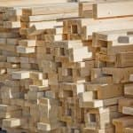 lumber stacked for home construction (Photo by Brandon Smith)