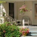 white wicker front porch furniture