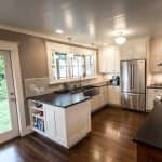 kitchen remodel with new countertops and cabinets