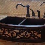 copper apron-front sink