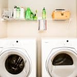 washer and dryer laundry room storage renovations
