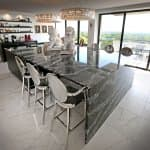 polished marble kitchen dining bar