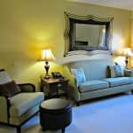 comfortable living room in senior community