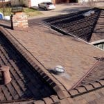 new asphalt shingle roof installed