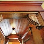 Wood entryway in a historic home in Indainapolis