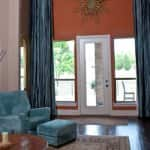 bold copper accent wall