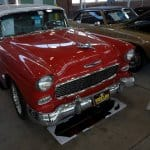 This '55 Chevy Nomad, found at Mecum's Spring Classic 2012 in Indy, features modern updates such as power rack-and-pinion steering, Vintage Air AC and power front disc brakes.