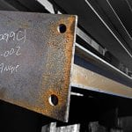 Steel mill delivered iron beams to our Marble job sight and to make no mistake as to where it goes they have written Angie on one of the main beams. (Photo by Photo by Frank Espich / Angie's List)
