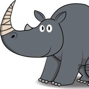 drawing of rhino