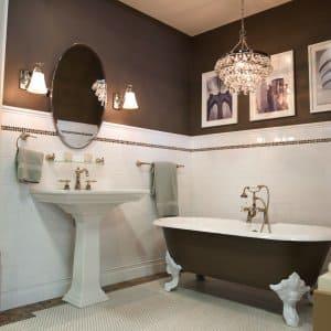 Trendy Bathroom Remodel With Claw Foot Bathtub