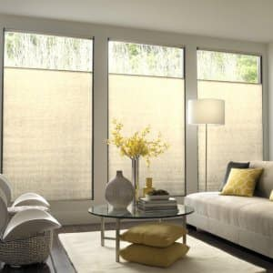 Your cellular shades won't be difficult to clean if you just follow these simple steps.  (Photo courtesy of Blindsgalore)