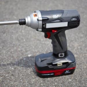 Cordless 18-volt drill for DIY remodeling projects (Photo by Eldon Lindsay)