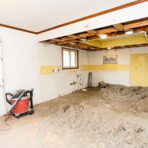 Diy Demolition With Torn Out Drywall Studs