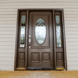 Ordinaire Brown Front Door With Side Windows