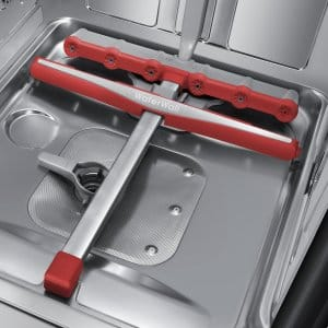 WaterWall system in the bottom of a Samsung dishwasher.