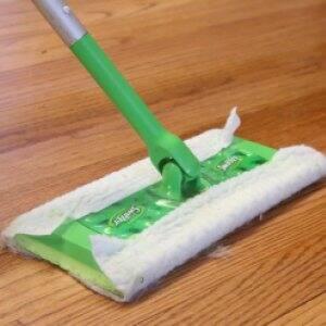 swifter cleaning hardwood floor