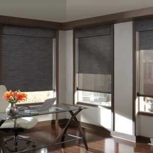 solar screen window treatments in office