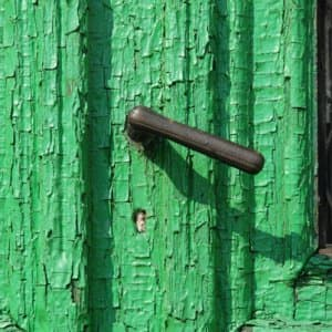 old door with green paint
