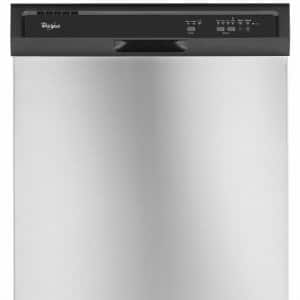 Front shot of a Whirlpool WDF320PADS dishwasher