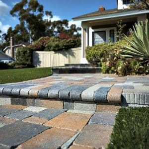 walkway made of pavers