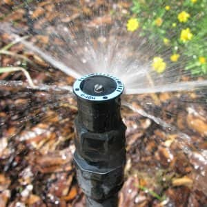 Installing a sprinkler system can save you time and money compared to watering your lawn by hand. (Photo courtesy of Rain Bird Corporation)