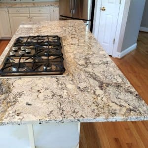 Granite Countertop Island In A Kitchen