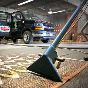 steam cleaner on carpet