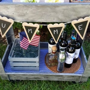 DIY drink cart