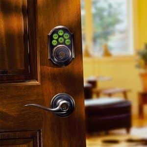 keyless entry door security on front door