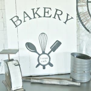 vintage bakery wood sign