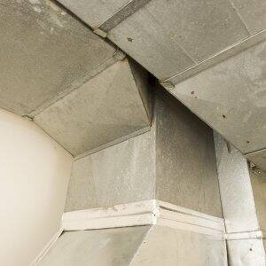 A cold-air return duct work for an HVAC system