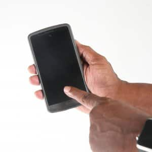 man holding a smartphone