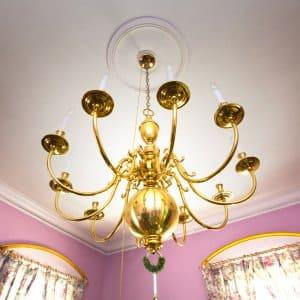 vintage gold chandelier (Photo by Frank Espich)