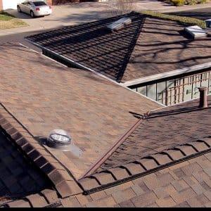 new asphalt shingle roof installed