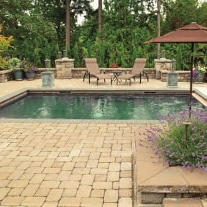 Choose the right pavers for your patios, pools and driveways to make sure there is no damage later on. (Photo courtesy of Landscape East & West)