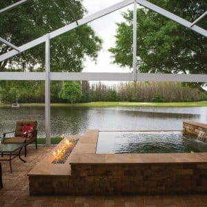 A combination pool and spa offered a beautiful space to relax in the small backyard of Angie's List members Susan and David Bartlett. (Photo by Mike Fender)