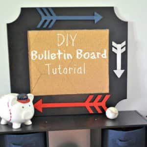 Back-to-school time can lead to disorganization, but this DIY bulletin board can help you and your kids stay organized throughout the year.  (Photo by Abbey DeHart)