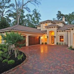 a stucco house