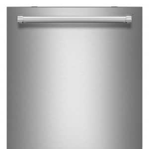 Front of KitchenAid KDTE254ESS stainless steel dishwasher
