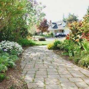 Paver stone pathway