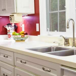 A kitchen with gourmet decor