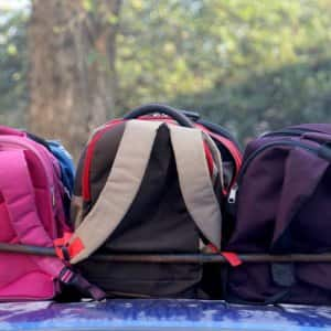 Getting your child the proper backpack can help protect him or her from serious back problems later on. (Photo by Paul Hamilton)